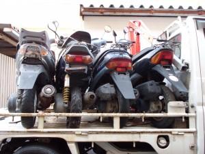 回収バイク